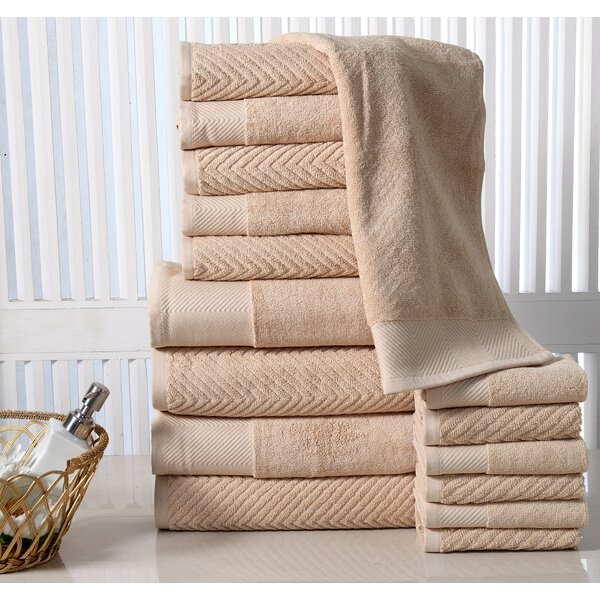 Grenville 16 Piece 100% Cotton Towel Set by The Twillery Co.